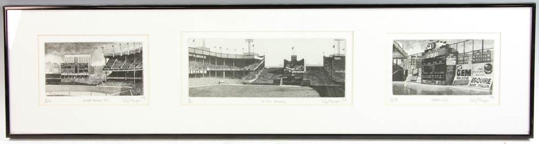 Three Panoramic Baseball Photos - 8