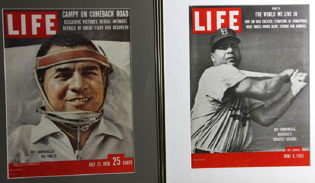 Framed Life Magazine Covers of Giants, Dodgers, Etc. - 2