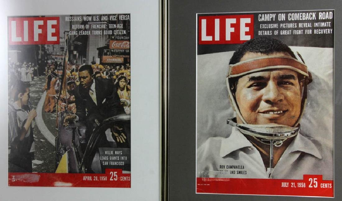 Framed Life Magazine Covers of Giants, Dodgers, Etc. - 3