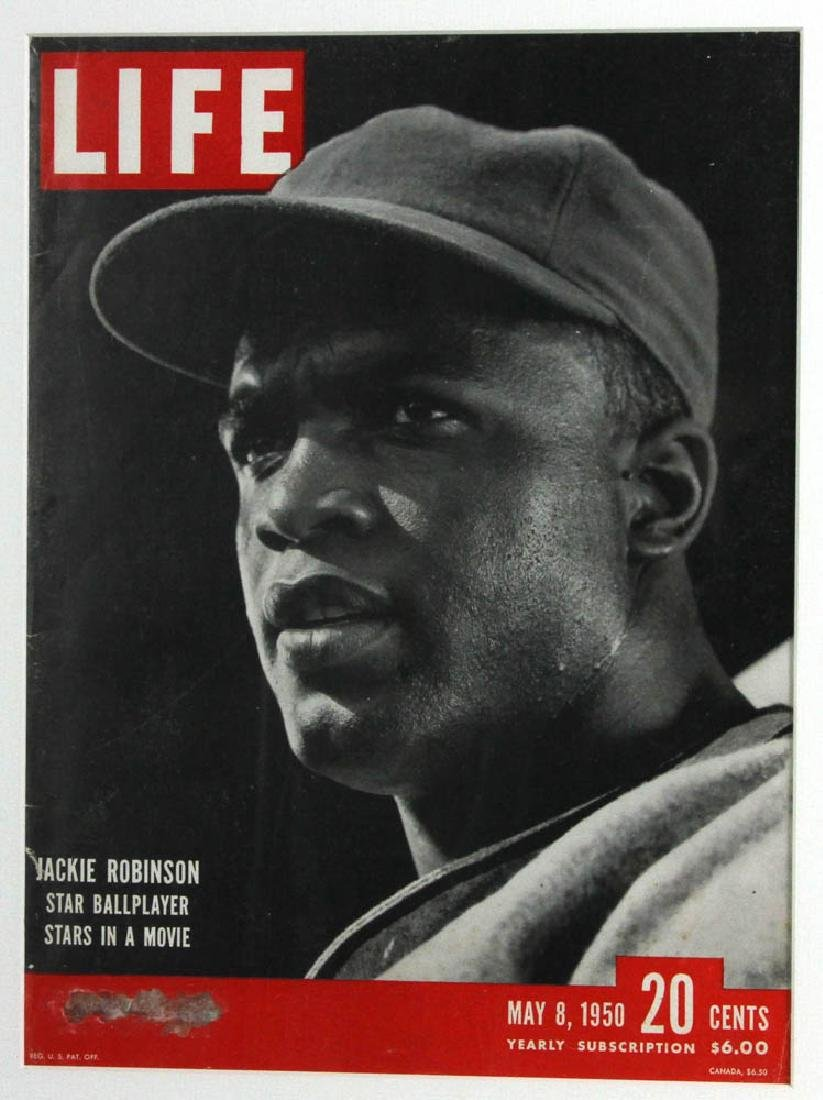 Framed Life Magazine Covers of Giants, Dodgers, Etc. - 5