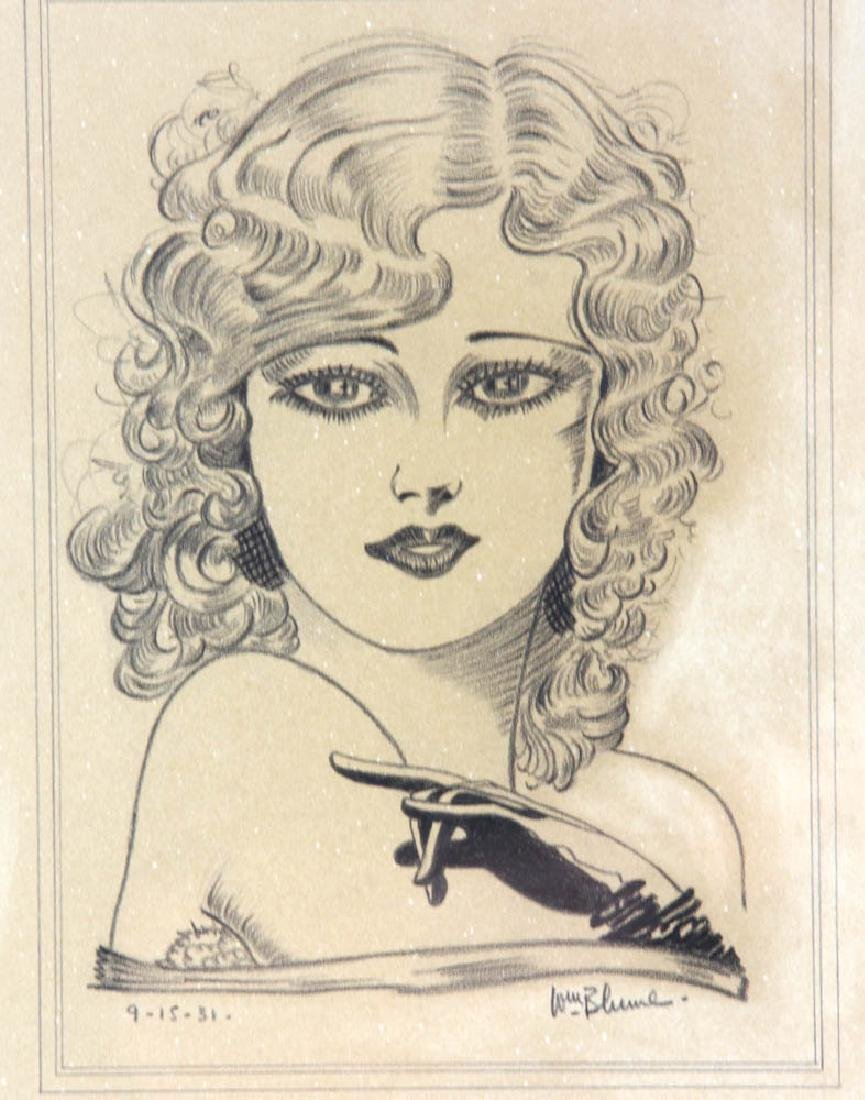 William Blume Signed Pencil Drawing - 5