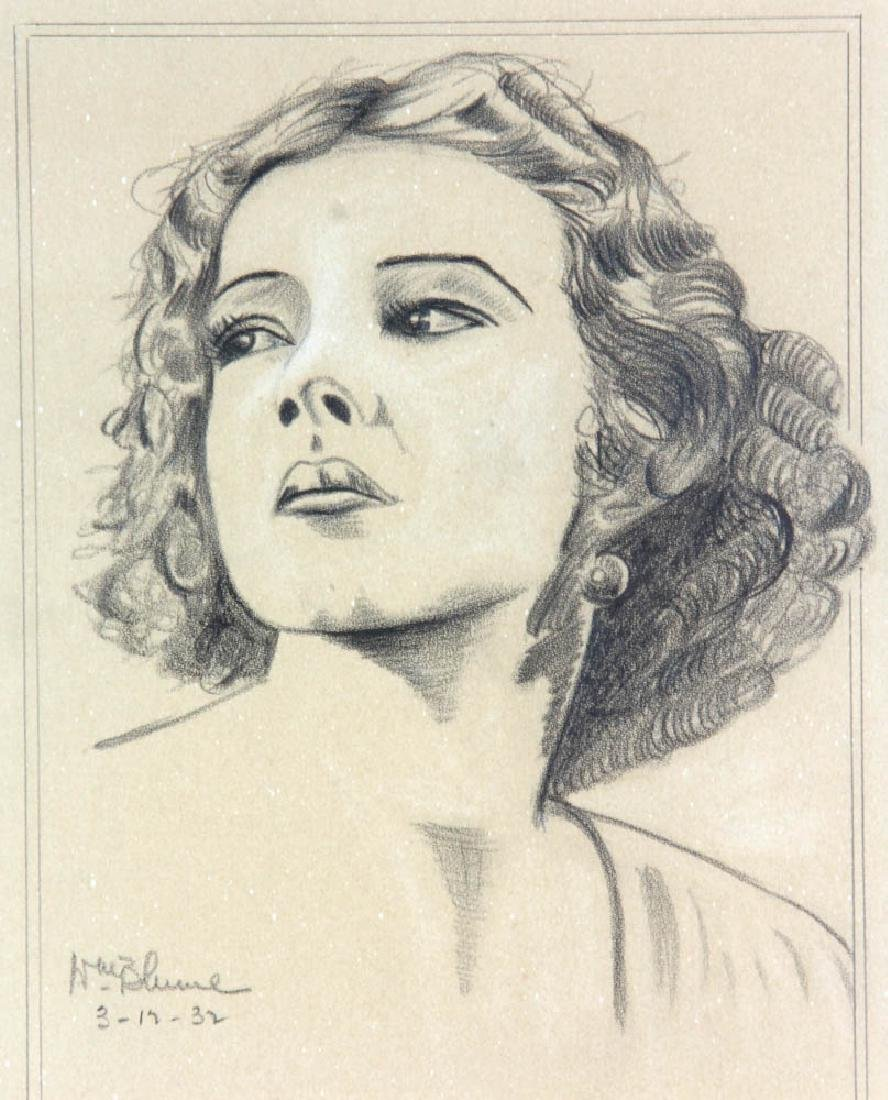 William Blume Signed Pencil Drawing - 6