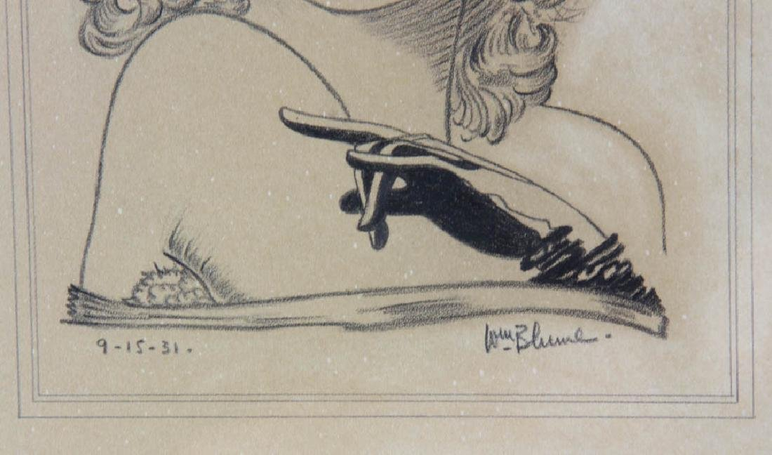 William Blume Signed Pencil Drawing - 7