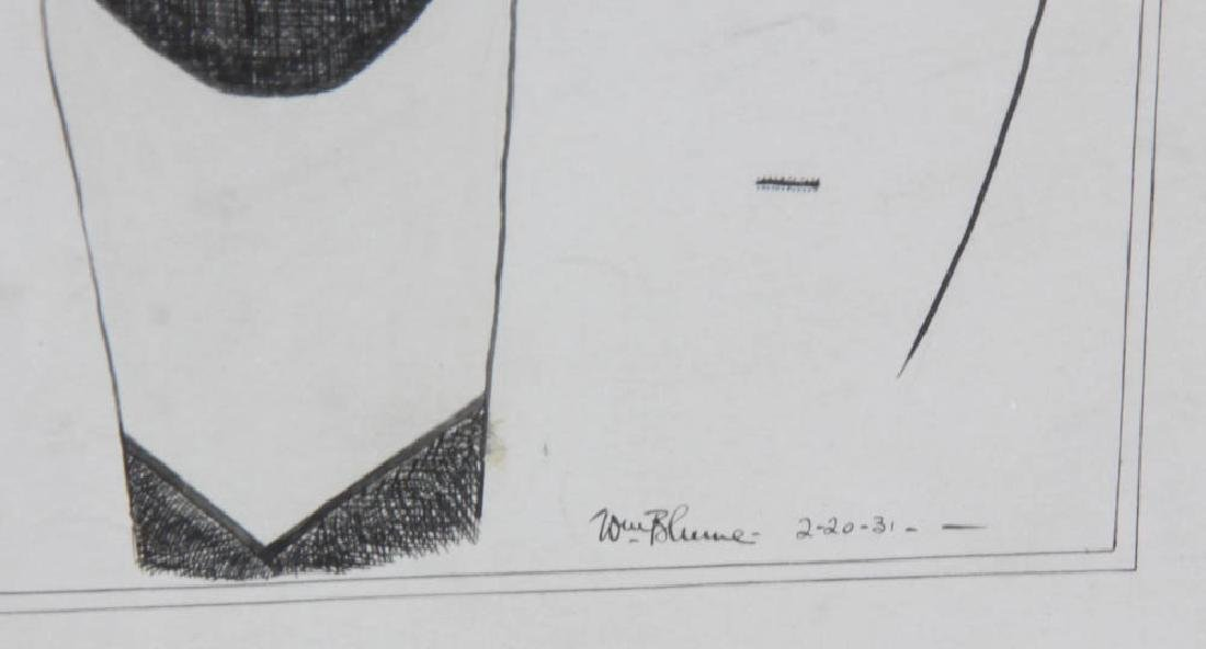 William Blume Signed Pencil Drawing - 8