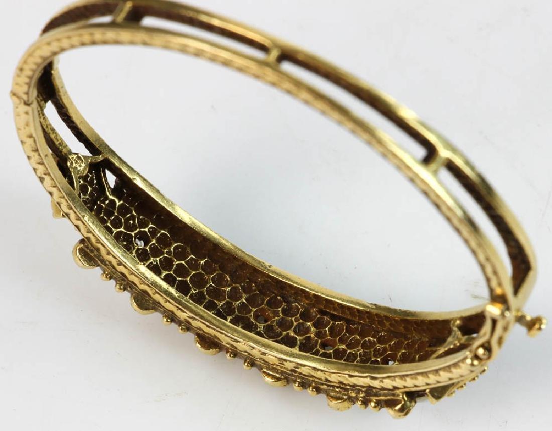 Ladies 14k Gold Opal and Diamond Bracelet - 3