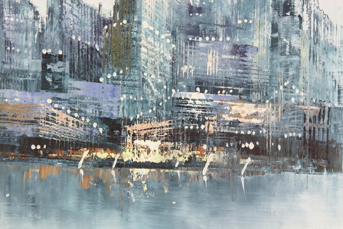 Jenner Abstract Cityscape Oil on Canvas - 2
