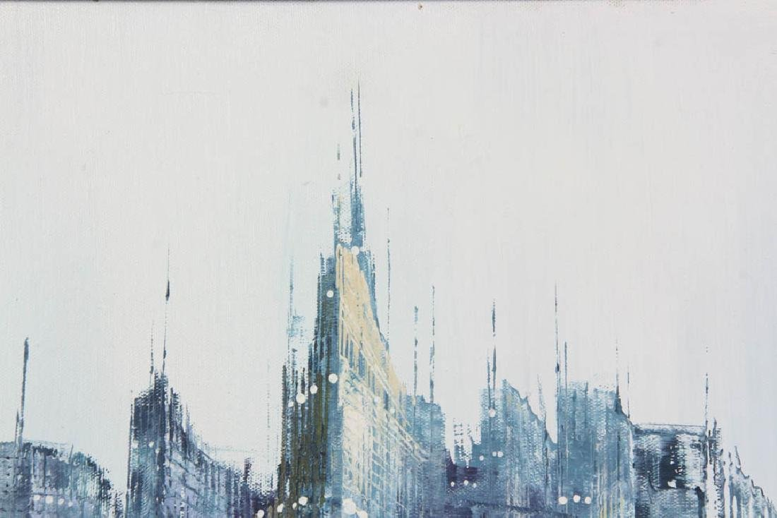 Jenner Abstract Cityscape Oil on Canvas - 3