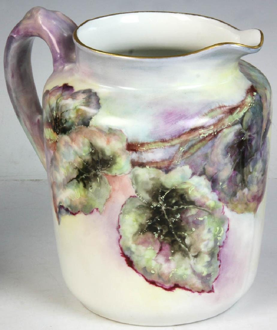Three French Limoges Handpainted Pitchers - 5
