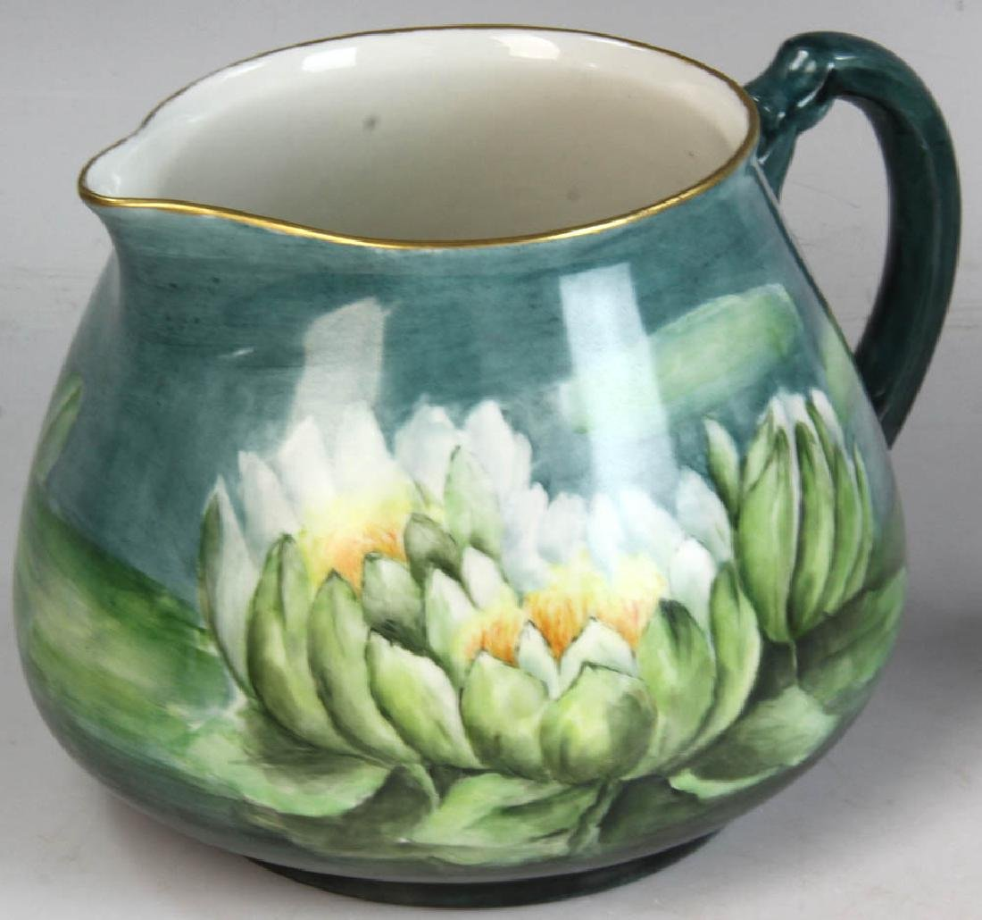 Three French Limoges Handpainted Pitchers - 7