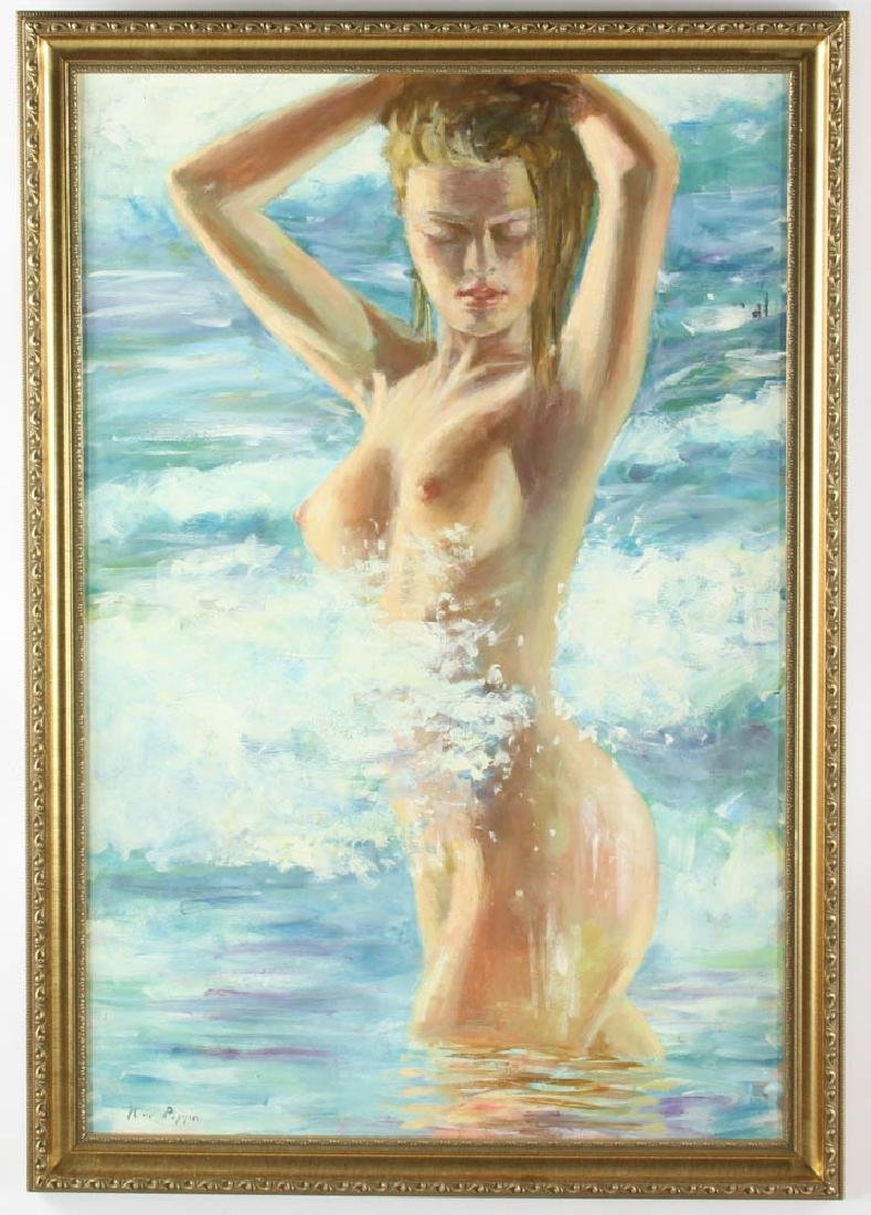 Kino Pipper Oil on Board of Nude Blonde