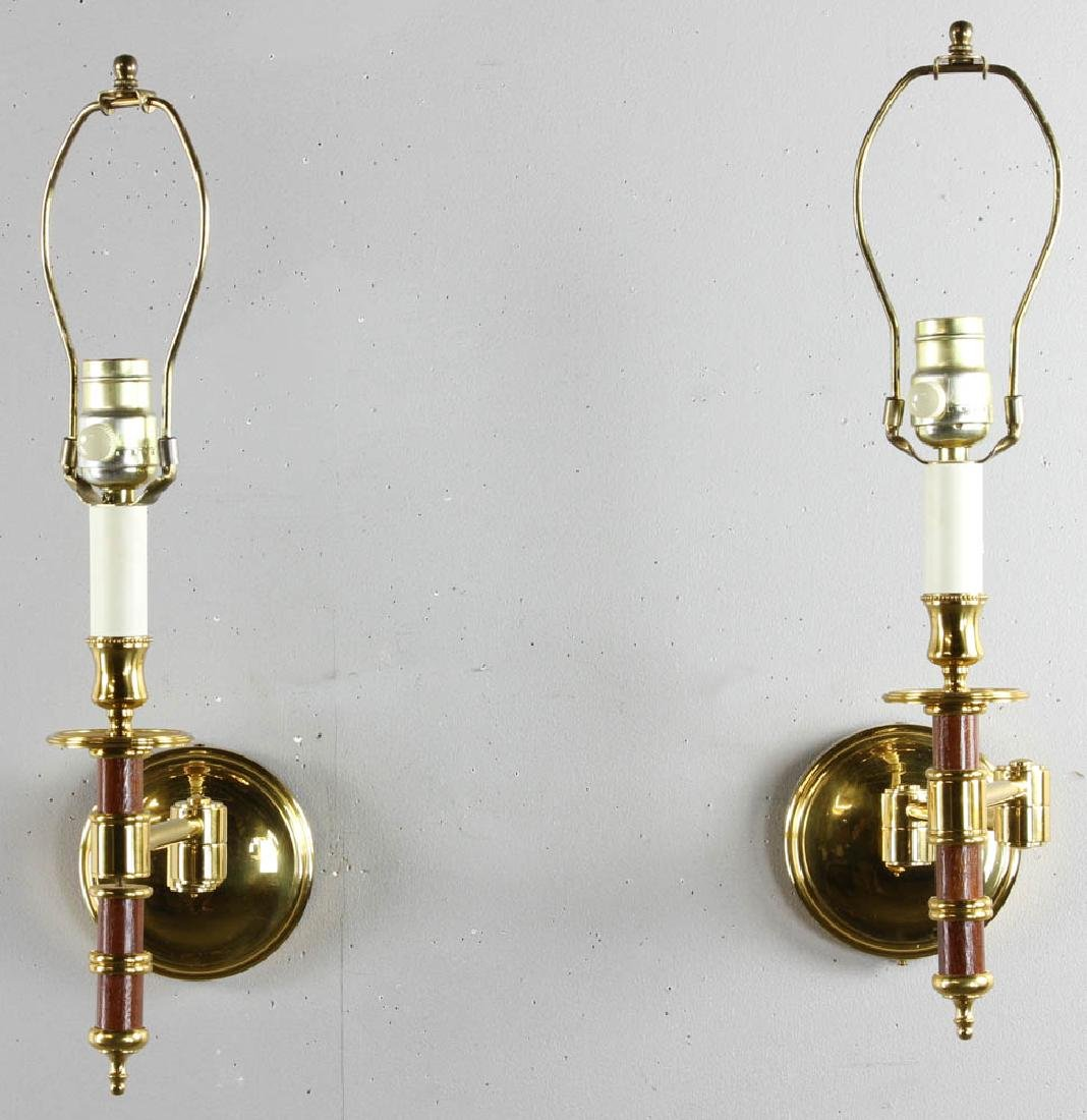 Pair of French Brass Reading Sconces