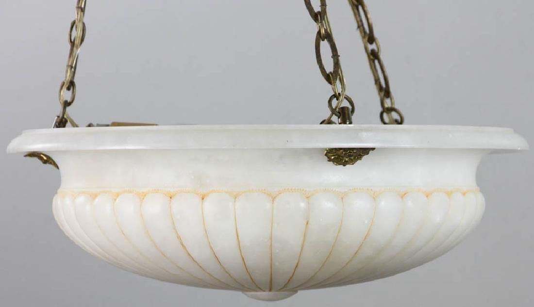 Antique Alabaster Ceiling Light Fixture - 2