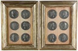 Grand Tour Medallions of Roman Emperors