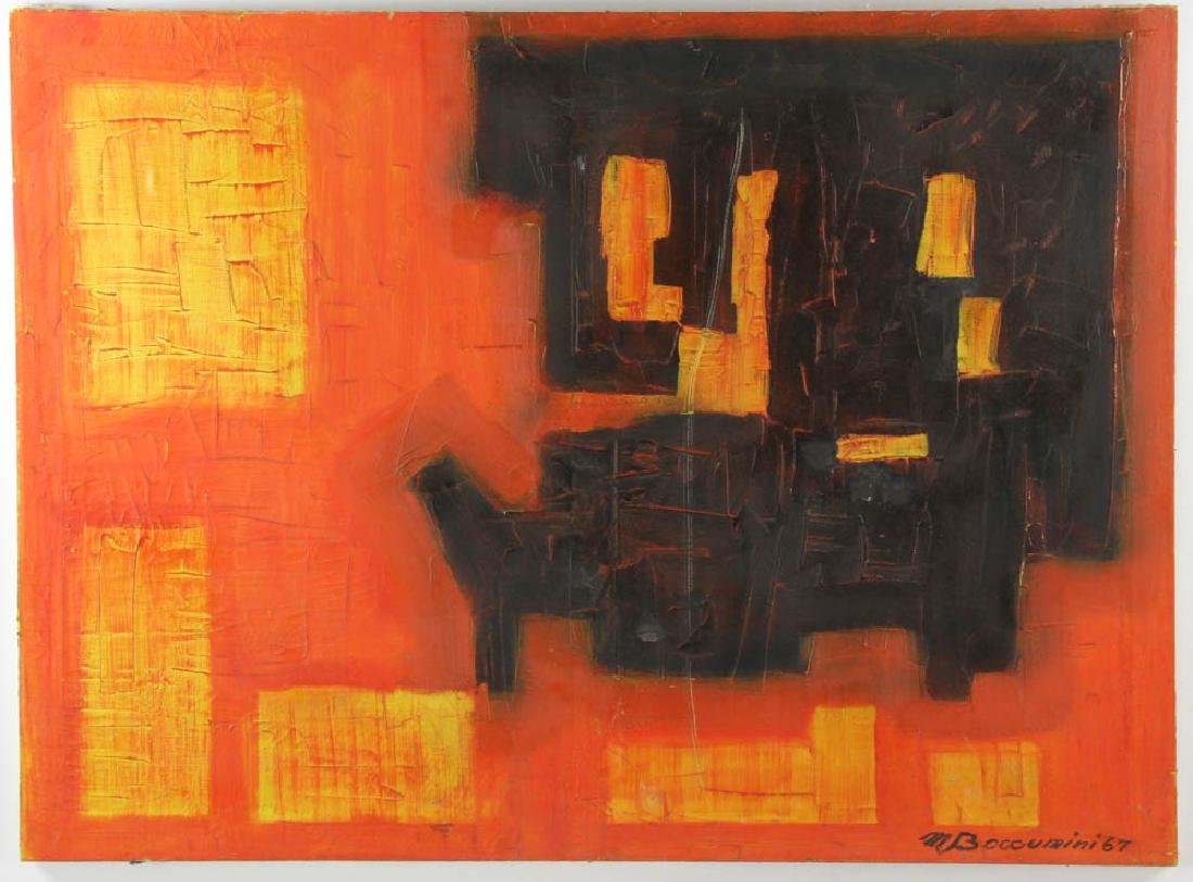 M. Boucunini Abstract Oil on Canvas