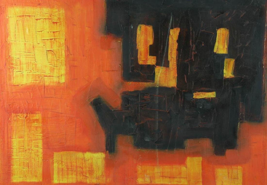 M. Boucunini Abstract Oil on Canvas - 2