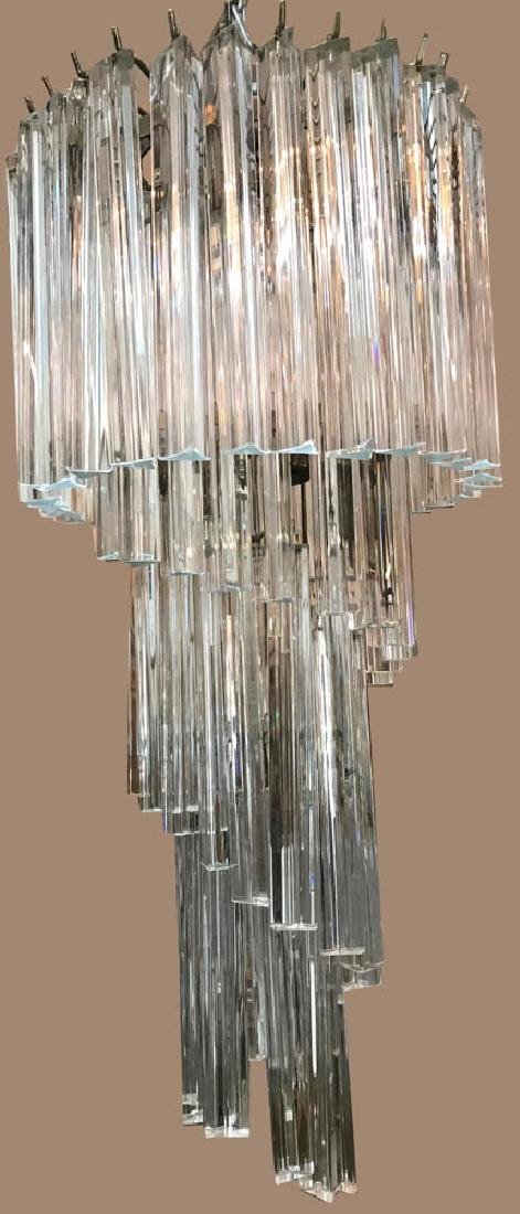Mid Century Modern Crystal Chandelier