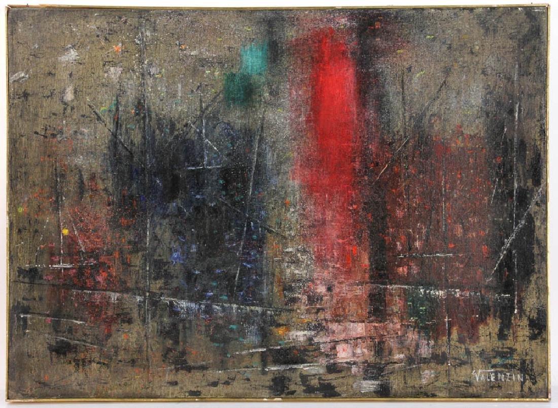 """Giorgio Valenzin Signed, """"Puesaggio"""", Oil on Canvas"""