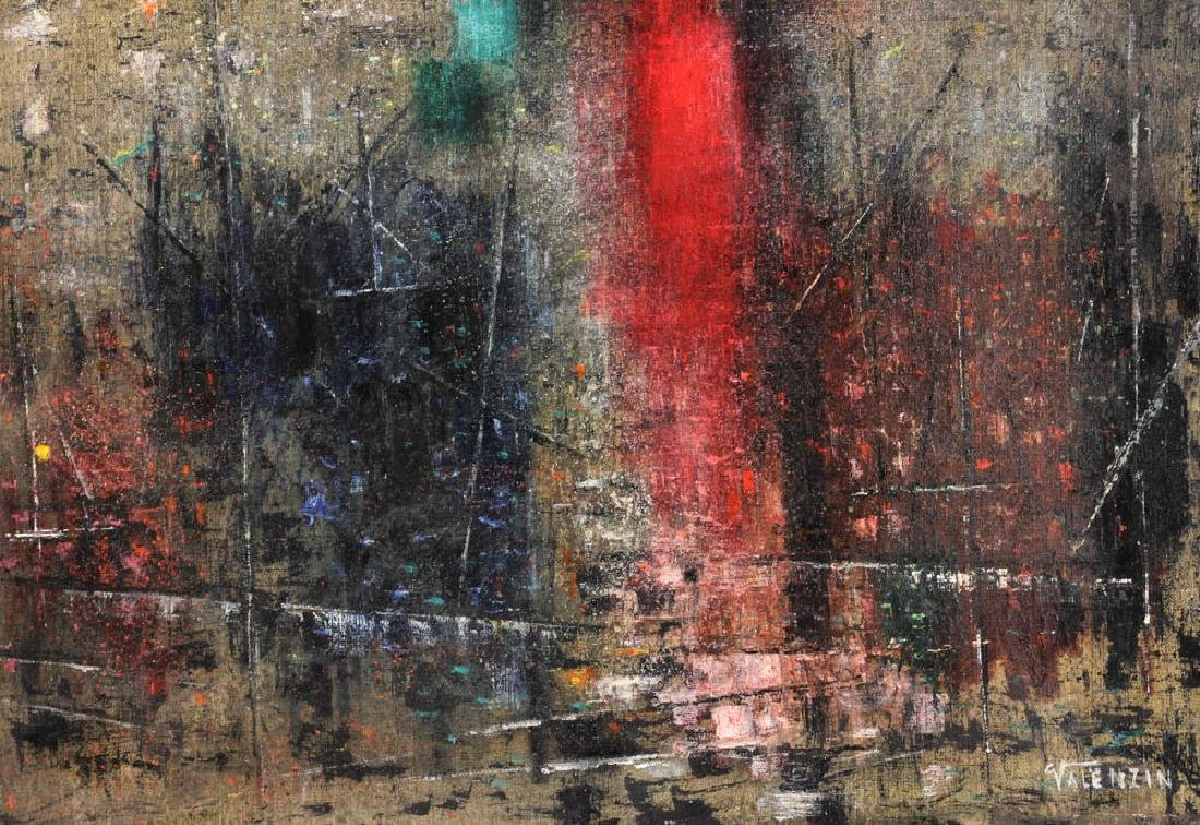 """Giorgio Valenzin Signed, """"Puesaggio"""", Oil on Canvas - 2"""