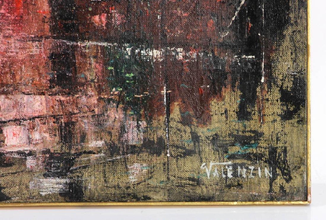 """Giorgio Valenzin Signed, """"Puesaggio"""", Oil on Canvas - 3"""