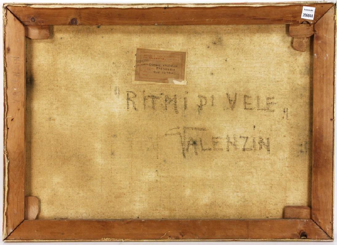"""Giorgio Valenzin Signed, """"Puesaggio"""", Oil on Canvas - 4"""