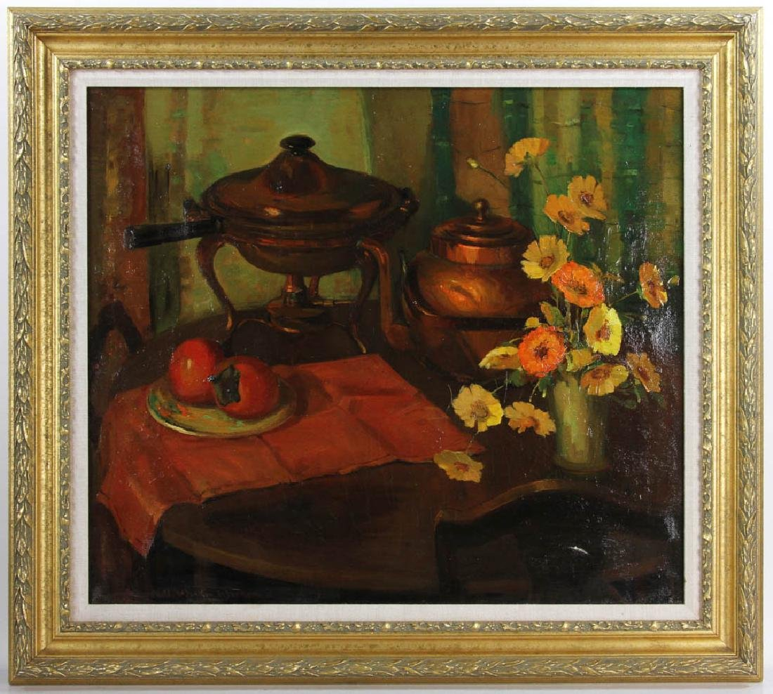 Nell Walker Signed, Still Life, Oil on Canvas