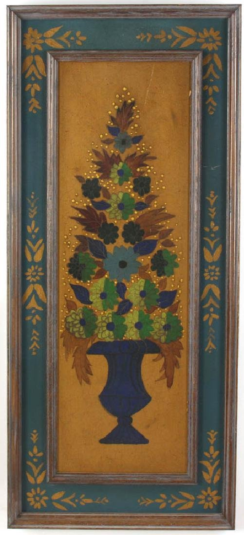 Still Life of Flowers in Handpainted Frame