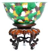 A Rare Chinese Famille Verte Dragon Bowl