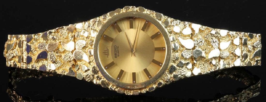 Men's Seiko 14k Yellow Gold Watch