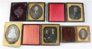Group of Five Daguerreotypes of People