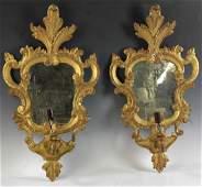 Pair of 19thC Italian Giltwood Sconces