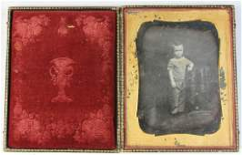 1/2 Plate Daguerreotype of a Young Child