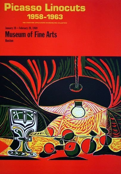 5003: Four 20th C. Art Exhibition Posters, Braque, Miro