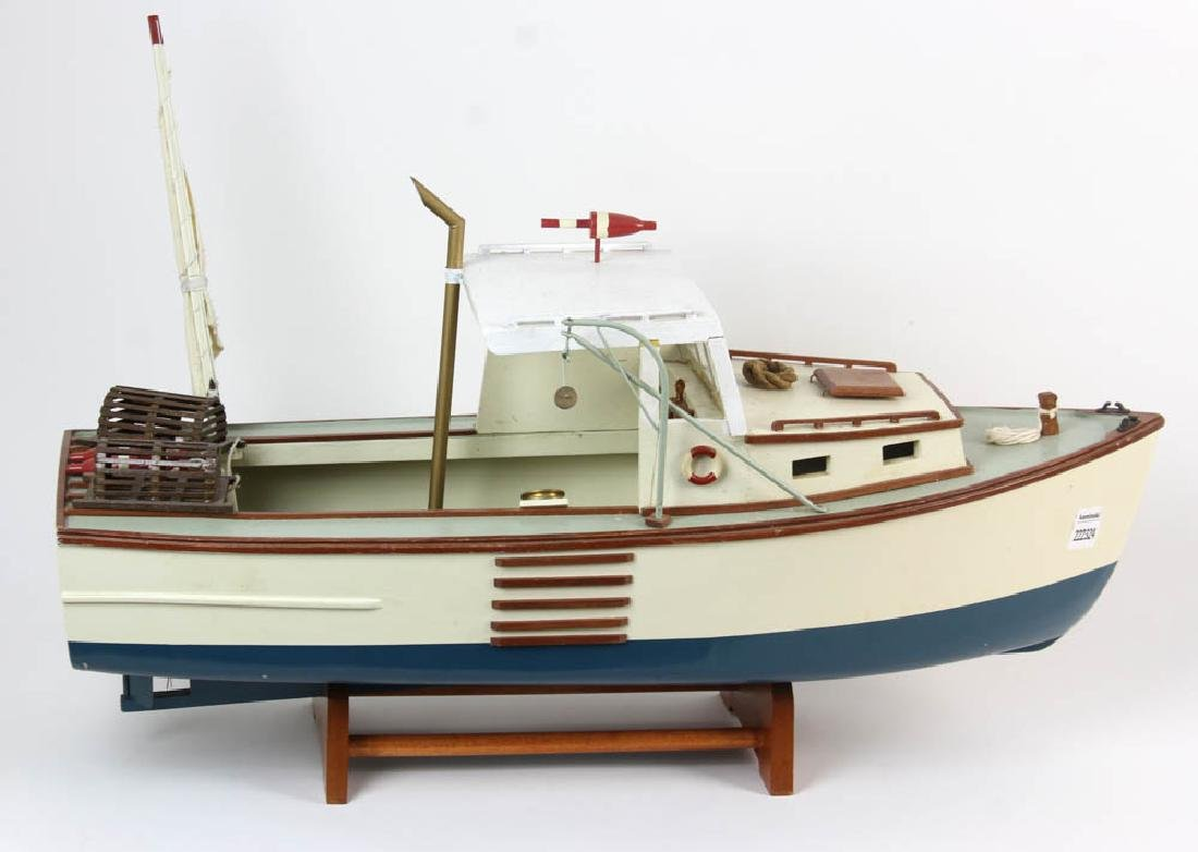 Wood Model of Lobster Boat