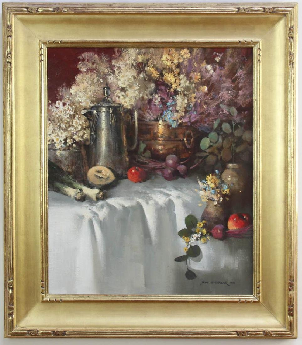 Tom Nicholas, Silver and Brass, Oil on Canvas