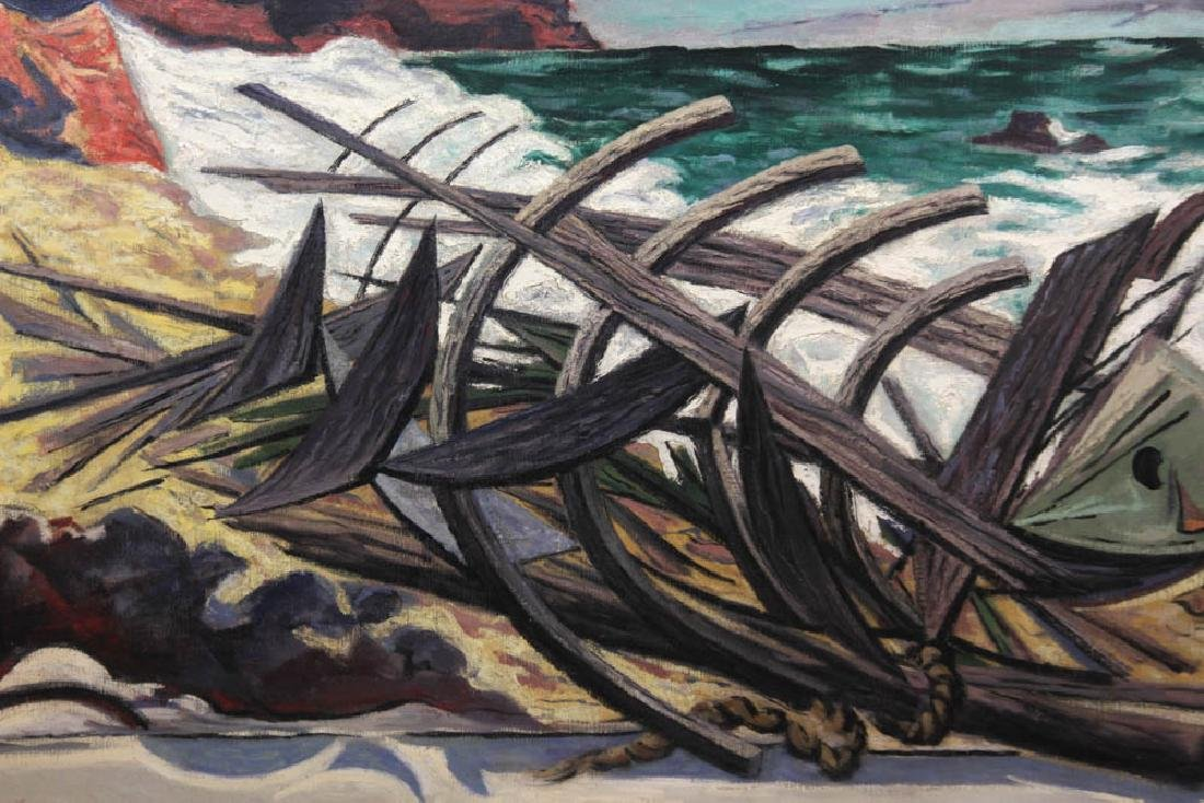 Ernest Fiene, The Wreck, Oil on Canvas - 2