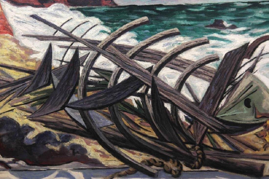Ernest Fiene, The Wreck, Oil on Canvas - 5