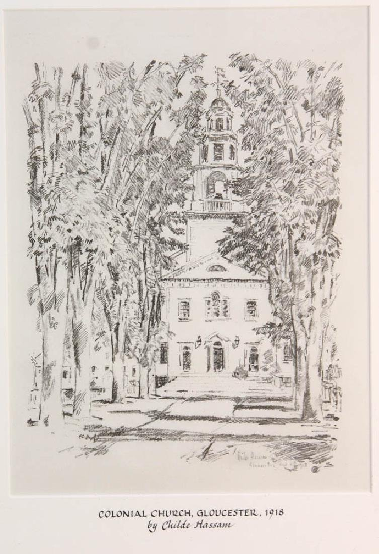 Childe Hassam, Colonial Church Gloucester - 2