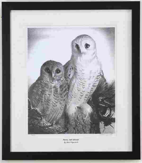 Stow Wengenroth, Frank and Berney, Owls