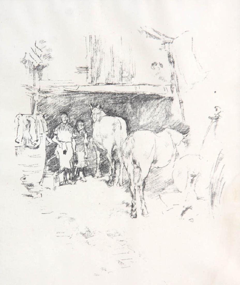 Horses in Barn, Print - 2