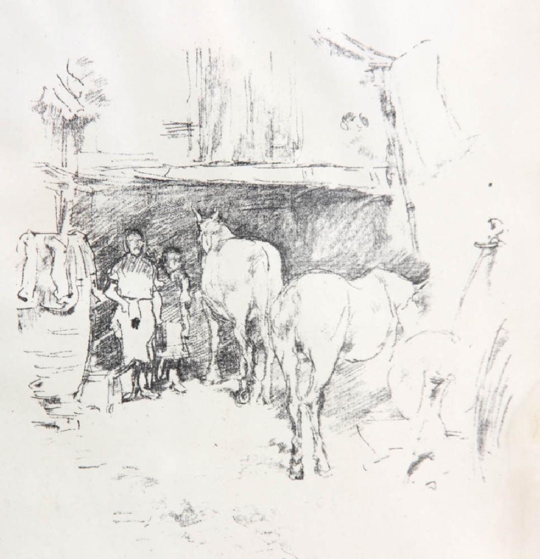 Horses in Barn, Print - 3