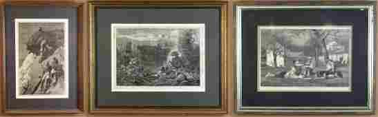 Three Prints by Winslow Homer