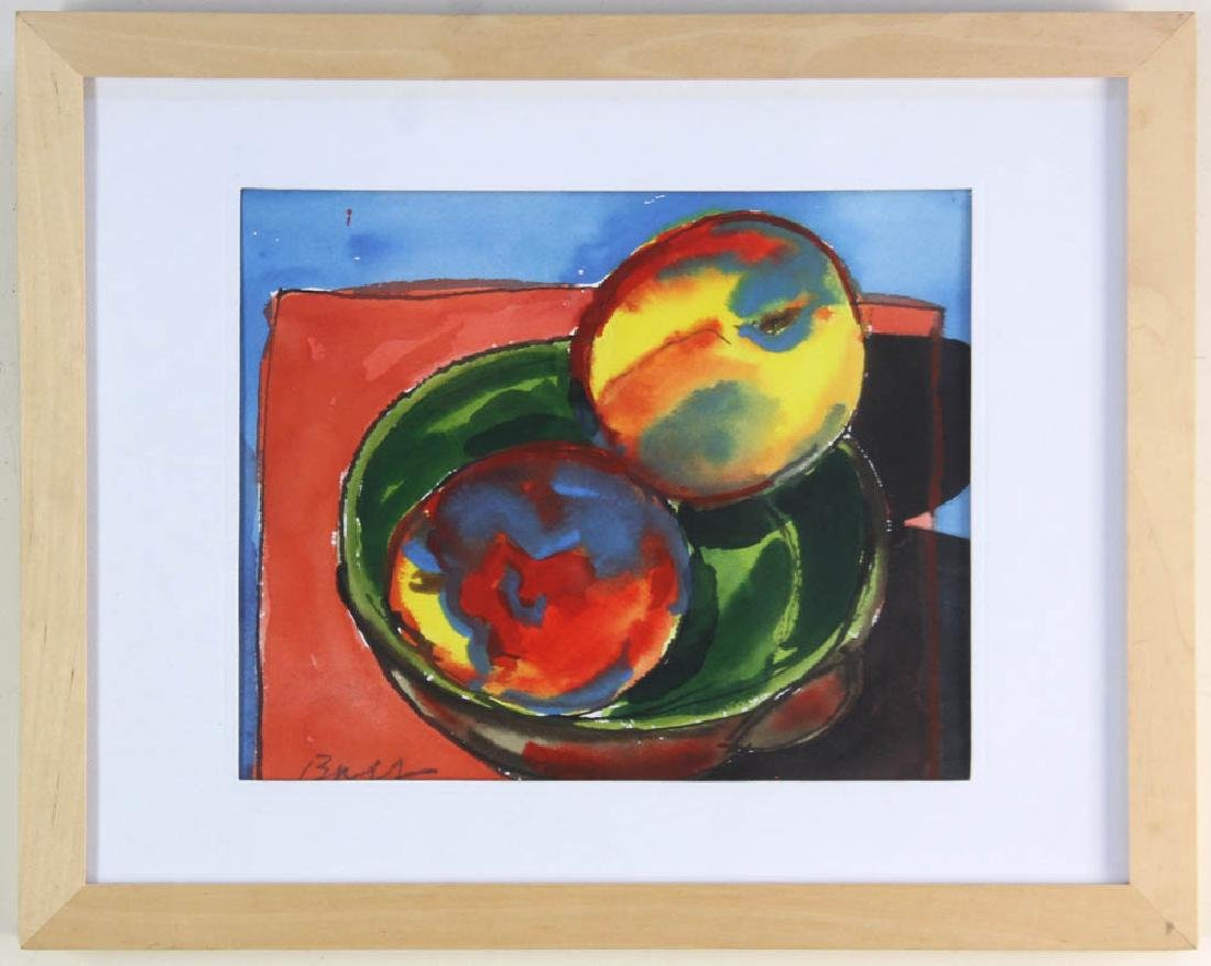 Bay, Peaches, Watercolor