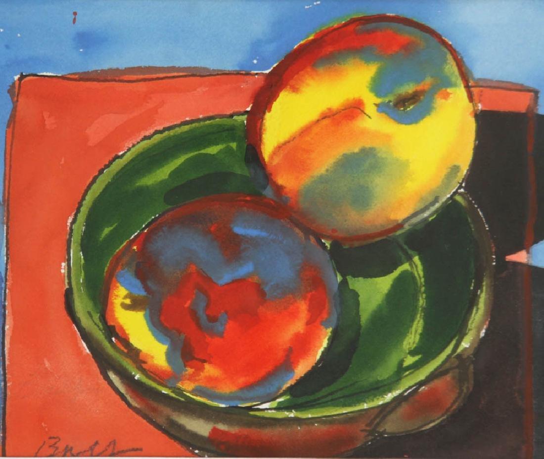Bay, Peaches, Watercolor - 2