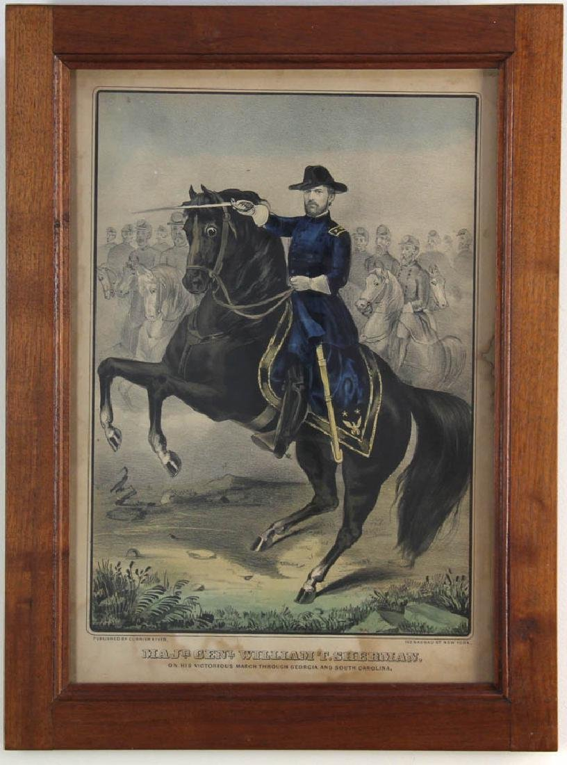 Currier and Ives Print, William T Sherman