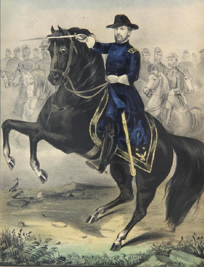 Currier and Ives Print, William T Sherman - 2