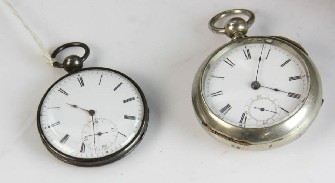 Three Key Wind Pocket Watches and Parts - 3