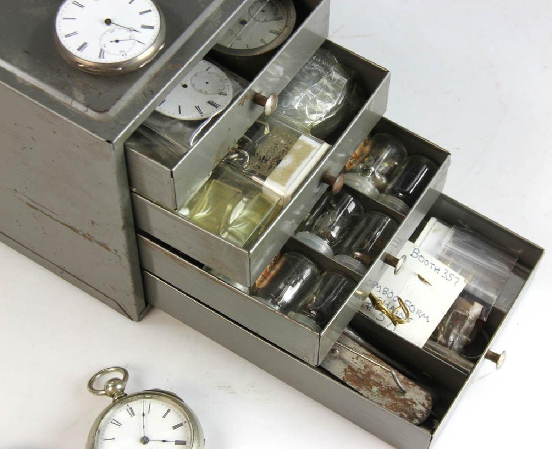 Three Key Wind Pocket Watches and Parts - 4
