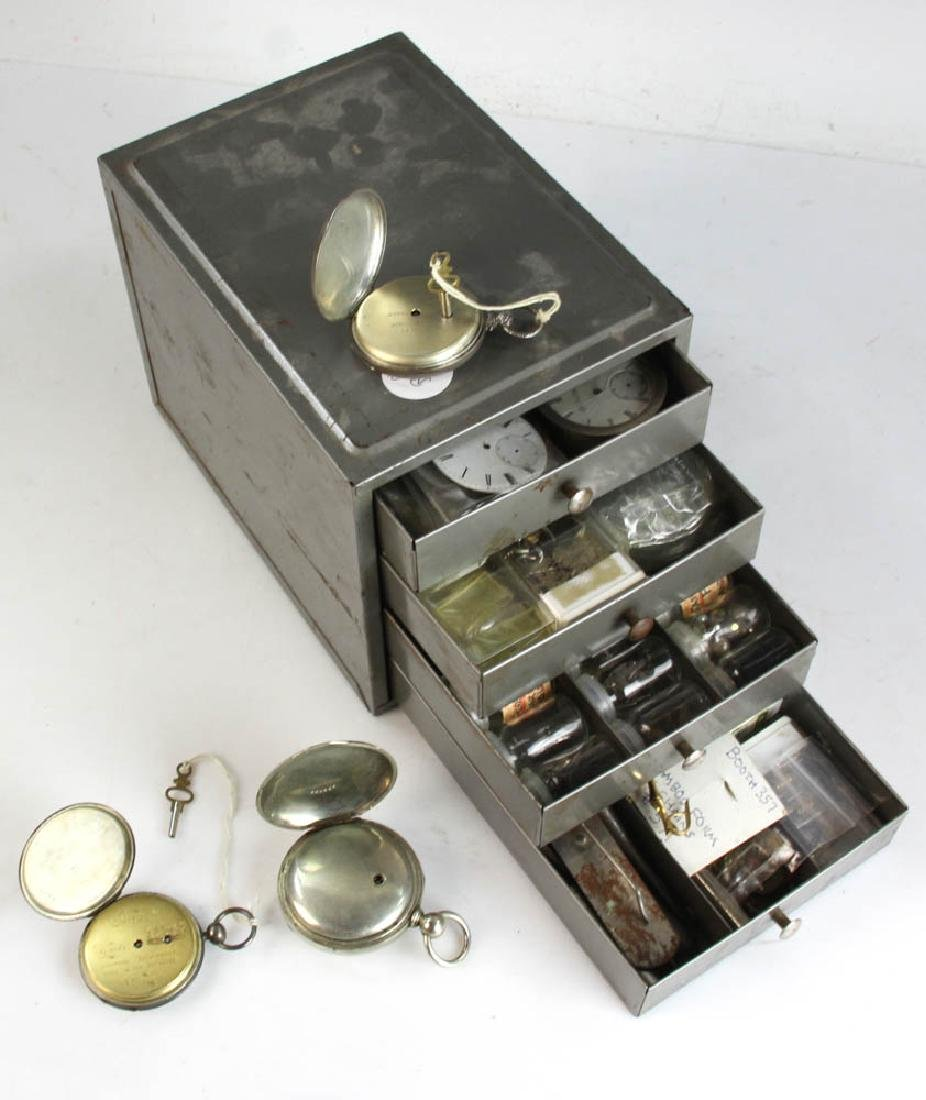 Three Key Wind Pocket Watches and Parts - 5