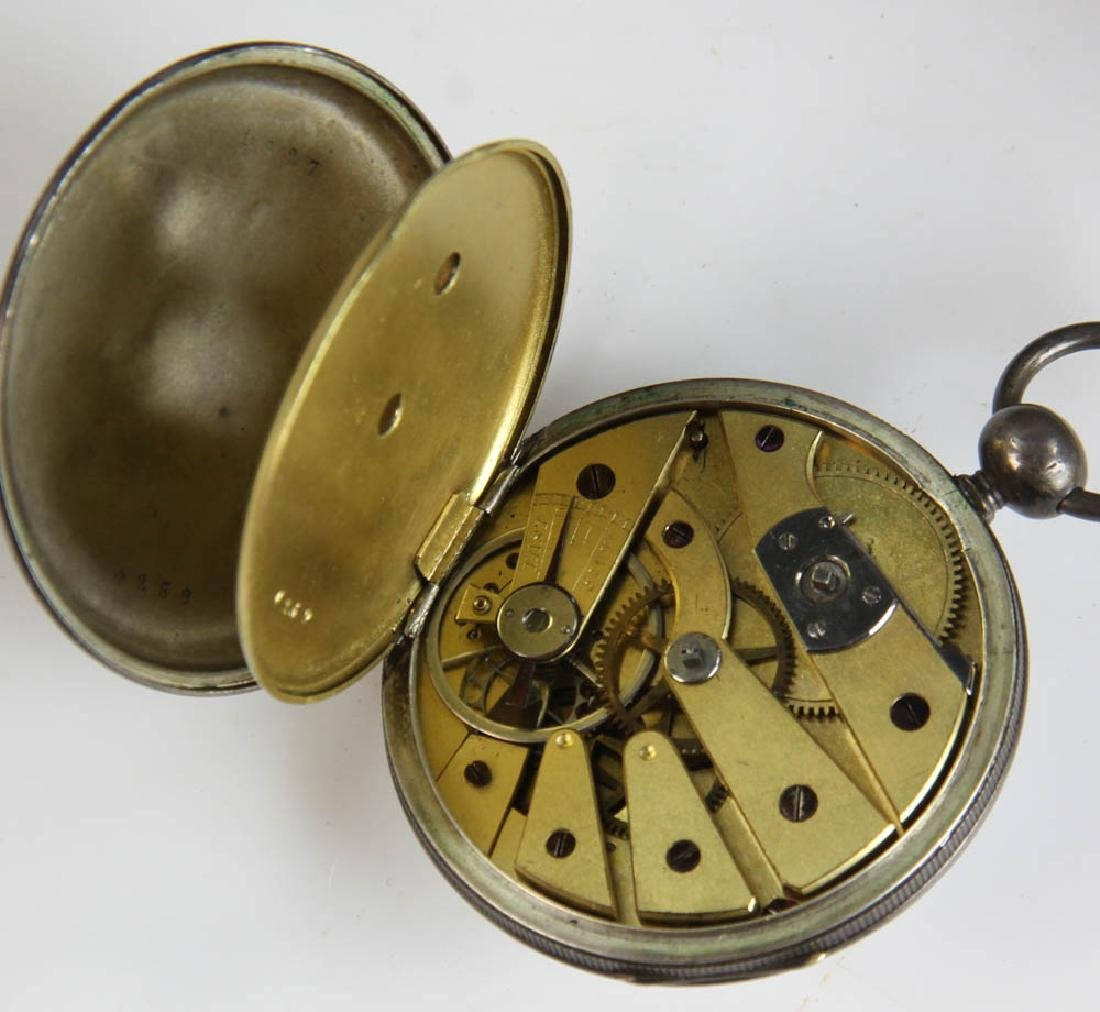 Three Key Wind Pocket Watches and Parts - 7