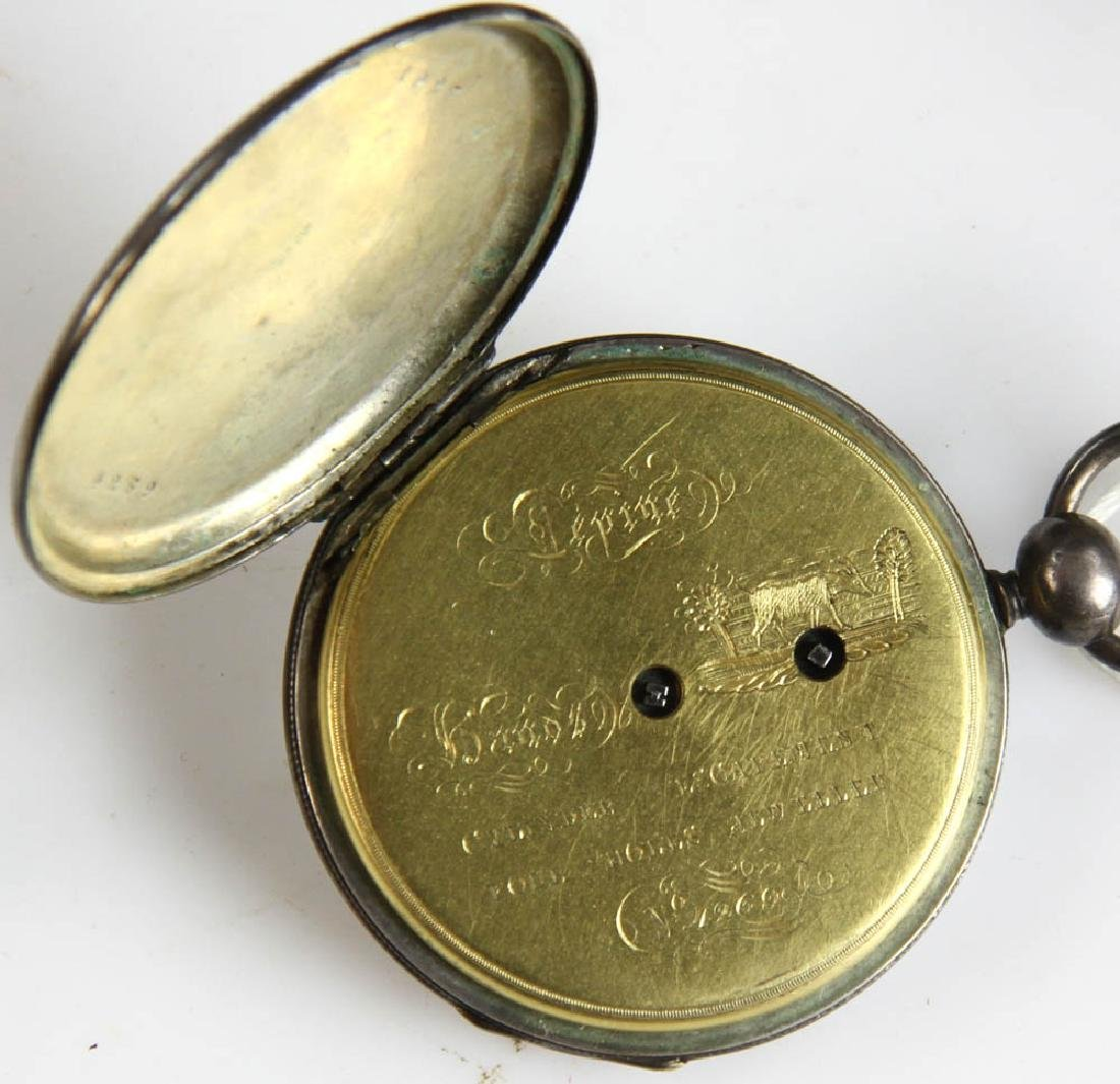 Three Key Wind Pocket Watches and Parts - 8